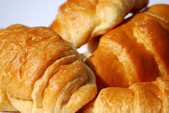 Croissants. Close up shot of some tasty croissants stock images