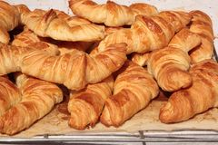 Croissants. In the french bakery Royalty Free Stock Image