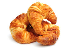 Croissants. Some tasty croissants on a white background Stock Images