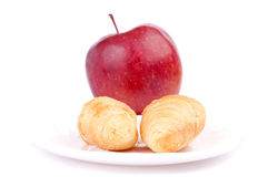 Croissants and apple Royalty Free Stock Photo