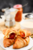 Italian breakfast - selective focus Royalty Free Stock Image