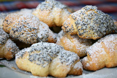 Croissants avec des graines Photo stock