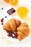 Croissants with berries Stock Image