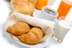 Croissants for breakfast Stock Images