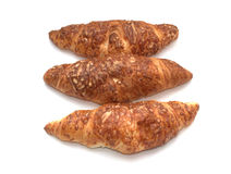 Croissants with cheese. Isolated on white background Stock Photo