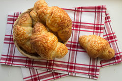 Croissants with cheese Royalty Free Stock Photo