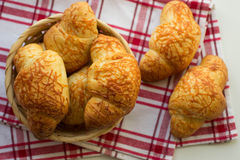 Croissants with cheese Stock Image