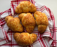 Croissants with cheese Stock Photography