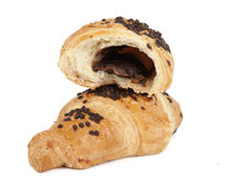 Croissants with chocolate Royalty Free Stock Photos