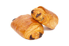 Croissants with chocolate Royalty Free Stock Photo