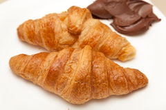 Croissants and chocolate Royalty Free Stock Photos