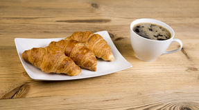 Croissants with chocolate Royalty Free Stock Image