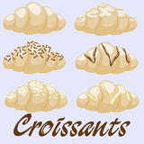 Croissants clip-art Stock Photography