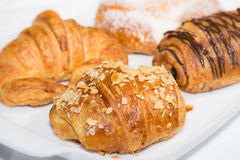 Croissants close up Stock Photography