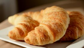 Croissants Close-up. Stock Photography