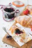 Croissants & coffee Stock Photo