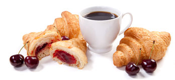 Croissants and coffee Royalty Free Stock Image