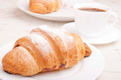 Croissants with coffee Stock Image