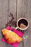 Croissants and coffee Royalty Free Stock Photos