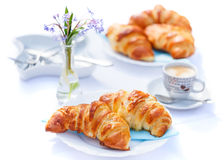 Croissants and coffee Stock Photo