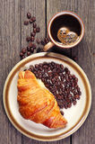 Croissants and coffee Stock Images