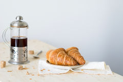 Croissants and coffee Stock Photography