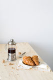 Croissants and coffee Stock Photos