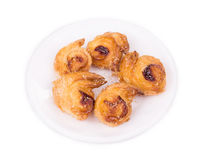 Croissants or crescent rolls on a plate. Stock Photography