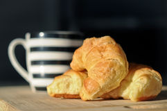 Croissants and cup Stock Photography