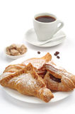 Croissants and cup of coffee Stock Photo