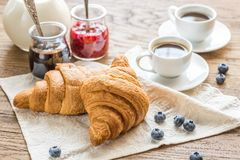 Croissants with Royalty Free Stock Photography