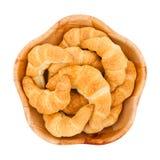 Croissants dans une cuvette Image stock