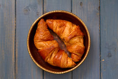 Croissants in dish Stock Image
