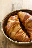 Croissants in dish Stock Photo