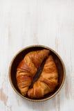 Croissants in dish Stock Photos
