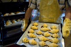 Croissants domestici immagine stock