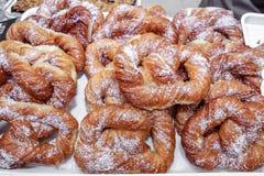 Croissants donuts Stock Photos