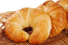 Croissants dorati fotografia stock