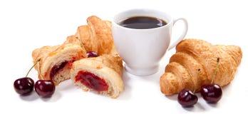 Croissants e caffè immagine stock libera da diritti