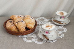 Croissants e caffè Immagine Stock