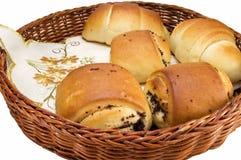 Croissants e soffi Fotografie Stock