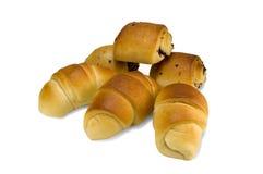 Croissants e soffi Immagini Stock