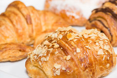 Croissants extreme close up Royalty Free Stock Image