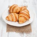 Croissants frais Photos libres de droits
