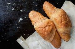 Croissants français Photographie stock