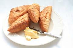 Croissants franceses Fotografia de Stock Royalty Free
