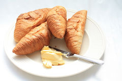 croissants francuscy Fotografia Royalty Free
