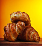 Croissants freschi immagine stock