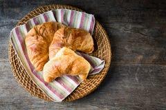 Croissants freschi fotografia stock