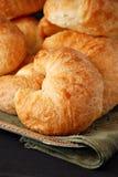 Croissants frescos Foto de archivo